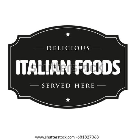 delicious italian foods vintage ...