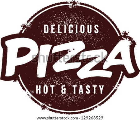 Delicious Pizza Vector Stamp