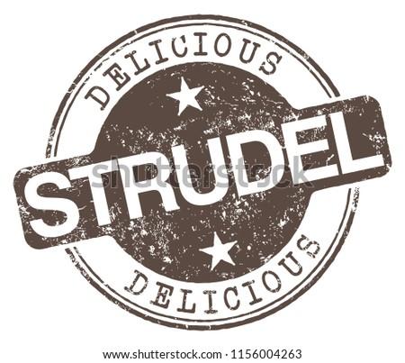 delicious strudel stamp