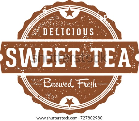 Delicious Sweet Tea Vintage Restaurant Sign