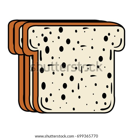 delicious toast bread icon