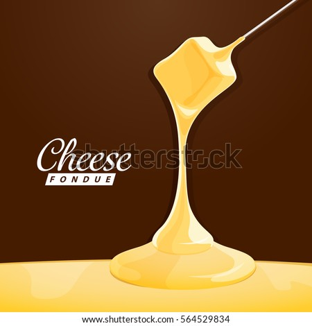 Delicious traditional swiss cheese fondue