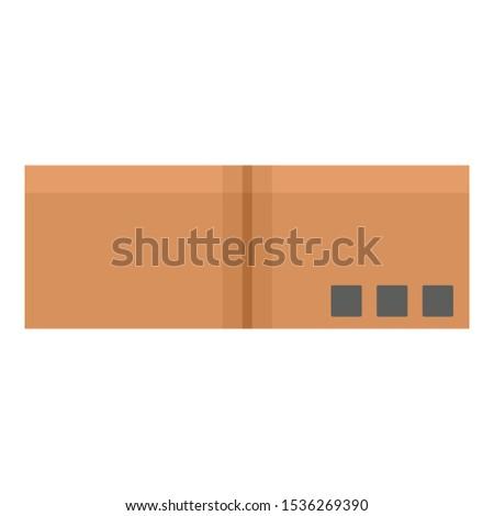 Delivery carton box icon. Flat illustration of delivery carton box vector icon for web design