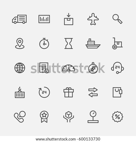 delivery company line icon vector illustration flat design