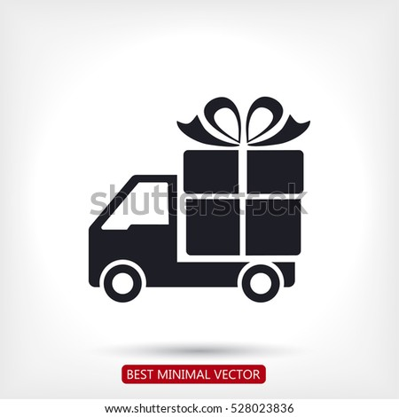 Shutterstock Delivery gift . icon. Vector  Eps 10