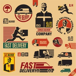 delivery icons set