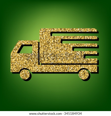Delivery illustration. Golden icon