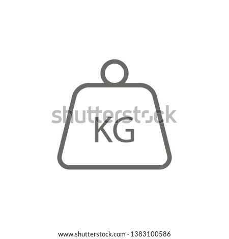 Delivery, kg, kilo, kilogram vector icon . Simple element illustration from UI concept. Delivery, kg, kilo, kilogram vector icon . Cargo Icon Vector Illustration.