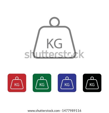 Delivery, kg, kilo, kilogram vector icon . Simple element illustration from UI concept. Delivery, kg, kilo, kilogram vector icon . Cargo Icon Vector Illustration