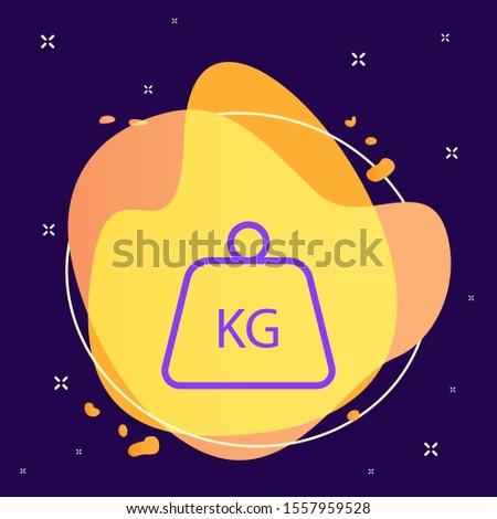 Delivery, kg, kilo, kilogram vector icon . Simple element illustration from UI concept. Delivery, kg, kilo, kilogram vector icon