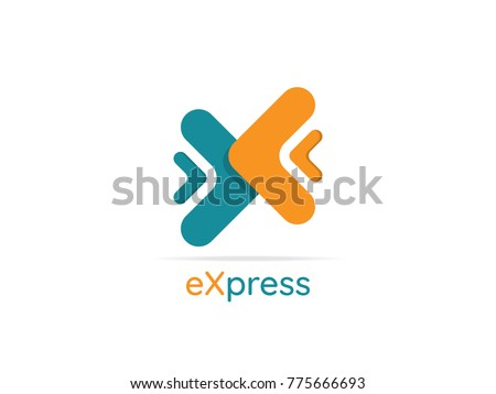 delivery logo. express logistic courier service symbol. money providence provider. transfer finance connection concept design. abstract letter x logo. arrow symbol vector illustration