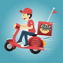 Delivery man. Vector illustration