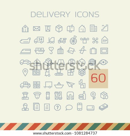 Delivery outlined icons
