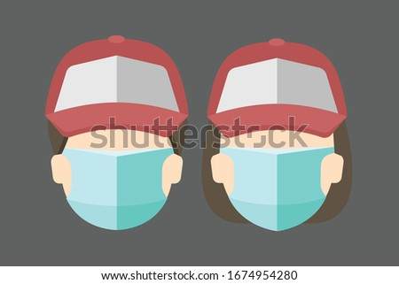 delivery people with mask face