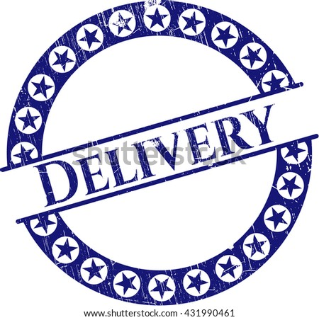 Delivery rubber grunge stamp