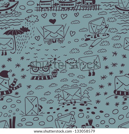 delivery seamless pattern