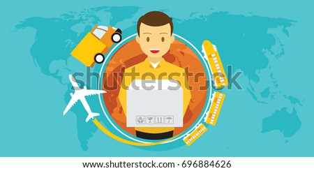 delivery service around the world