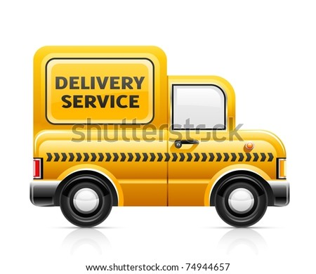 delivery service car vector illustration isolated on white background
