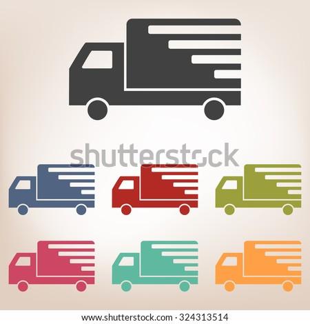 Delivery sign illustration set