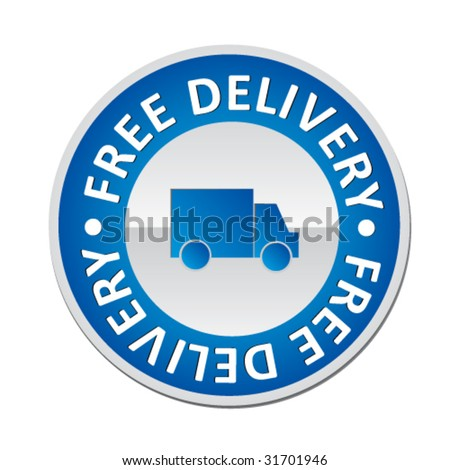 delivery sing - vector button