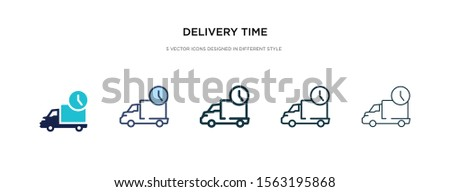 delivery time icon in different