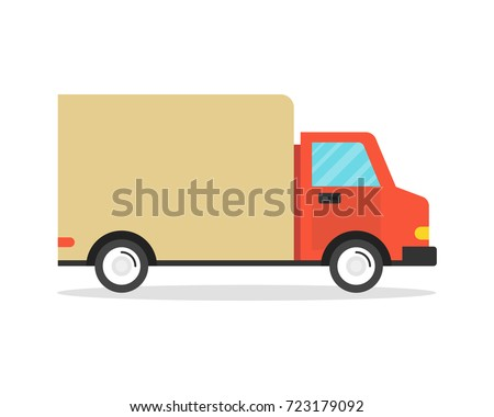 Delivery truck. Delivery service concept. Vector illustration.