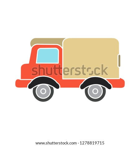 delivery truck icon-van symbol-shipping sign-transport illustration-lorry vector-delivering symbol