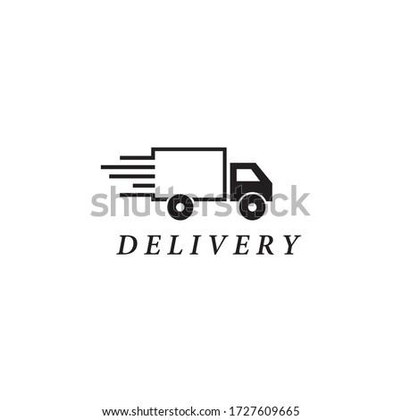 Delivery Truck logo template vector icon design Stock photo ©