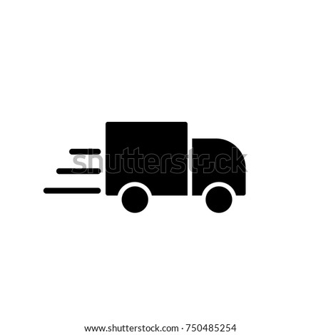 delivery, truck, lorry, shipment, icon simple black on white background