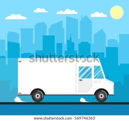 delivery truck of delivery