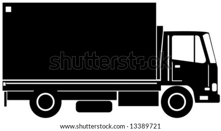 Delivery truck side view