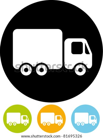 Delivery truck – Vector icon