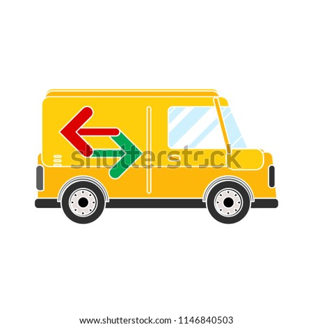 delivery van, car truck logo - commercial vehicle, mini van. shipping icon
