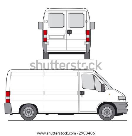 Delivery Van - Layout for presentation - vector
