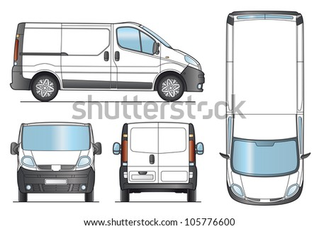Delivery Van Template - Layout for presentation - Vector EPS-8.