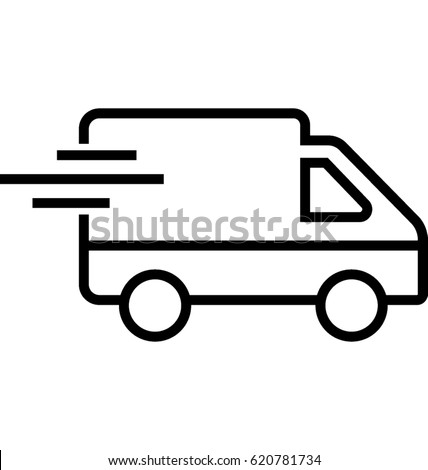 Delivery Van Vector Icon