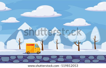 delivery  winter landscape
