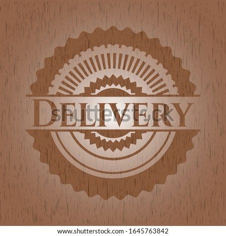 Delivery wood signboards. Vector Illustration.