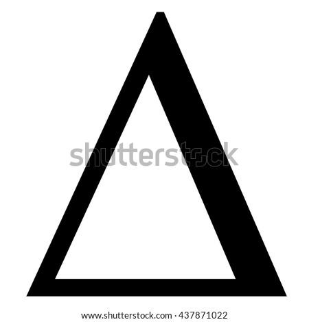 Delta greek letter icon , Delta symbol vector illustration