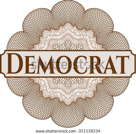 Democrat abstract linear rosette