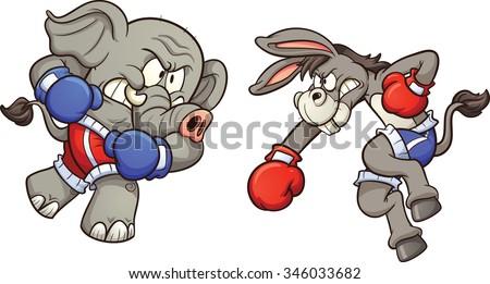 democrat cartoon donkey and