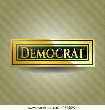 Democrat gold emblem