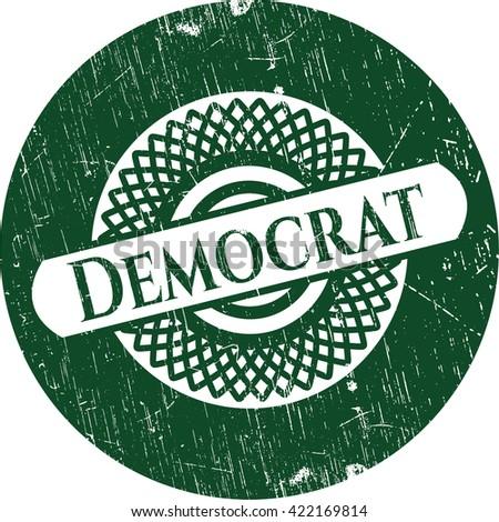 Democrat grunge seal