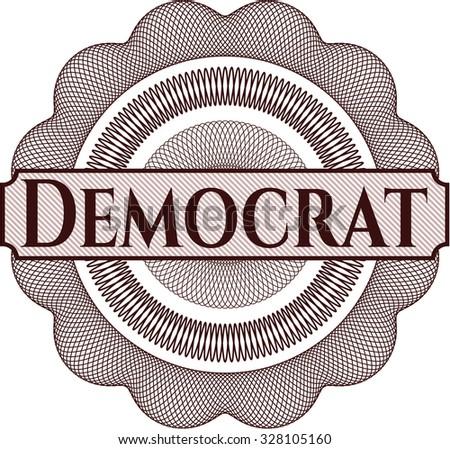 Democrat linear rosette