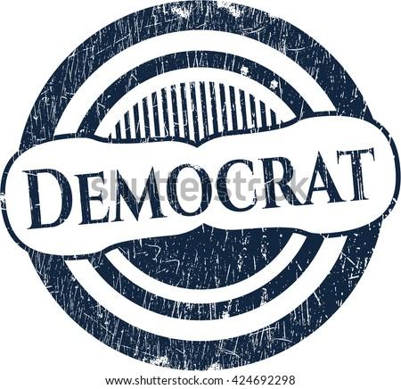 Democrat rubber grunge stamp