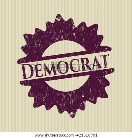 Democrat rubber seal