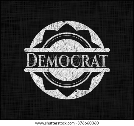 Democrat with chalkboard texture