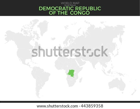 Democratic republic of the congo location modern detailed vector map democratic republic of the congo location modern detailed vector map all world countries without names gumiabroncs Gallery
