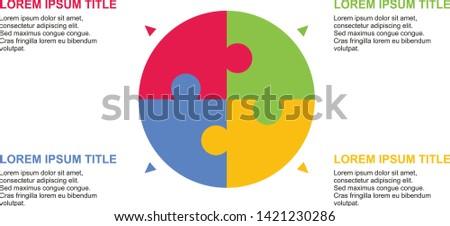 Demographic Diagram Stock vector with description.