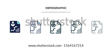 demographic icon in different style vector illustration. two colored and black demographic vector icons designed in filled, outline, line and stroke style can be used for web, mobile, ui